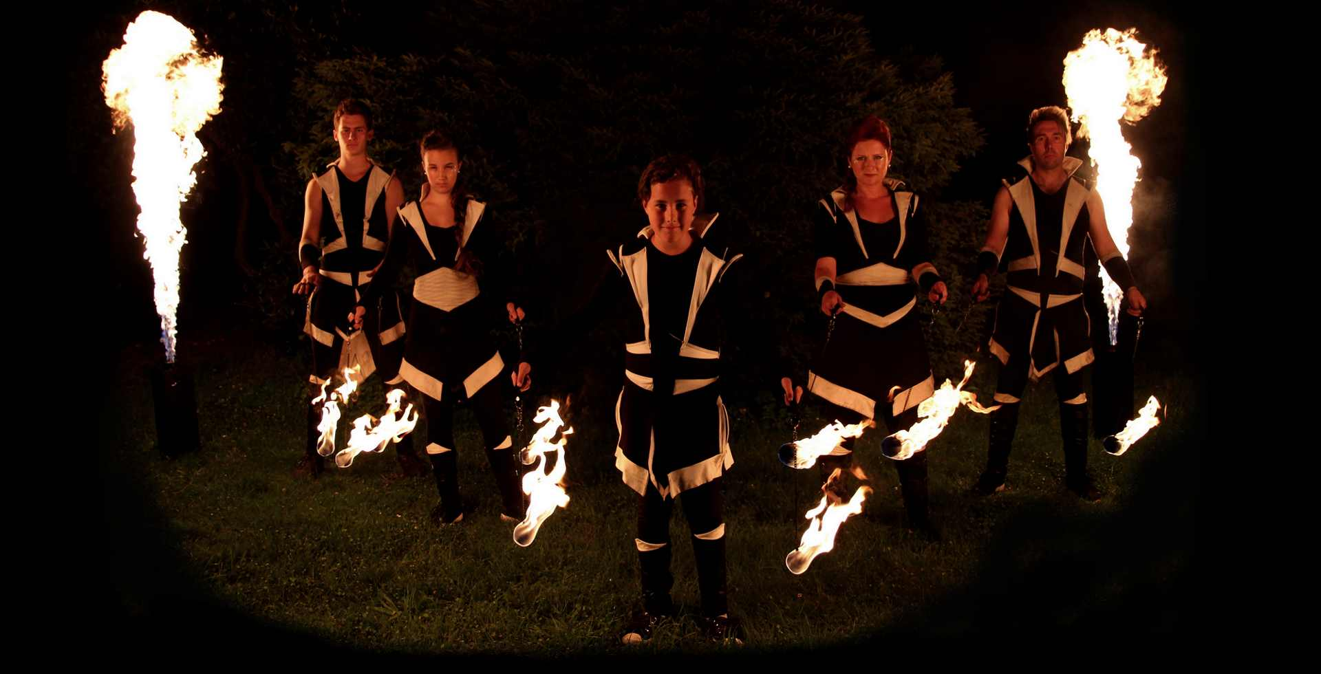ohnivá fire show
