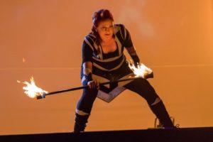 akční podívaná s ohněm