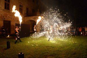 pyrotechnické efekty - ohnivá show Postrpoi