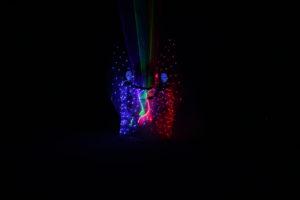 lightshow s lasery a světelnými efekty
