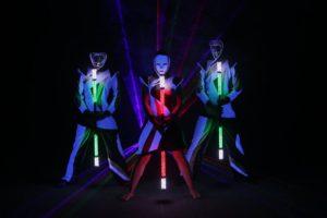 grafická tyč a lasershow součást světelné show