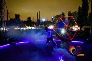 tanec se světlem, světelná kostka - lightshow