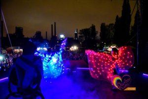tanec se světlem - lightshow